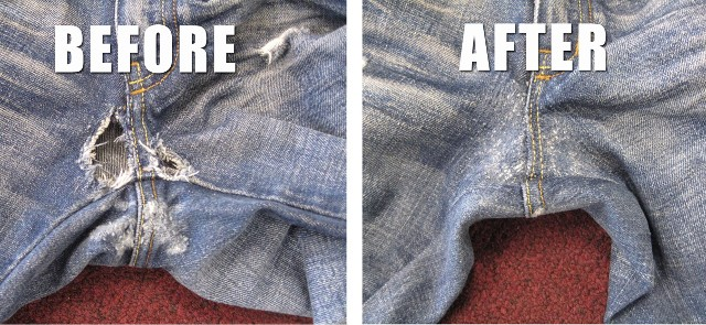 Patching Crotch Area